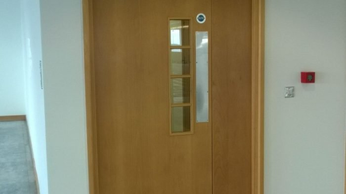 fitting fire doors on new builds , fire doors, fire door installation, fire door , fd30, fd30sc ,