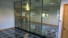 Glazed partitioning for offices