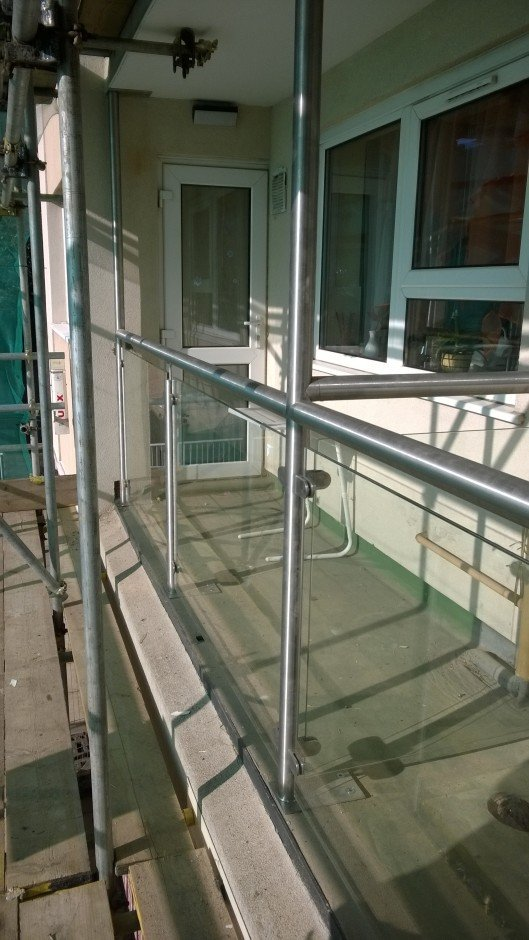 Balustrade handrails stainless steel designed and installed - RWS Ltd